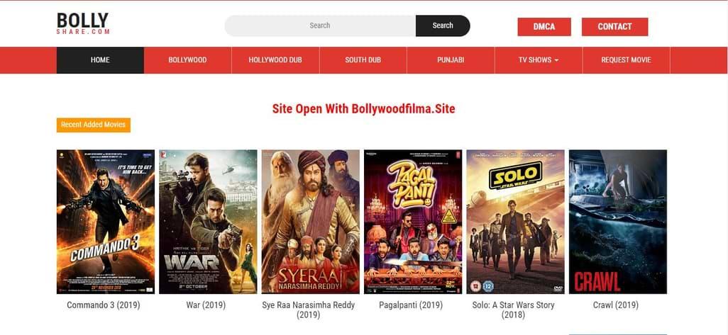 BollyShare Movie Downloading Website