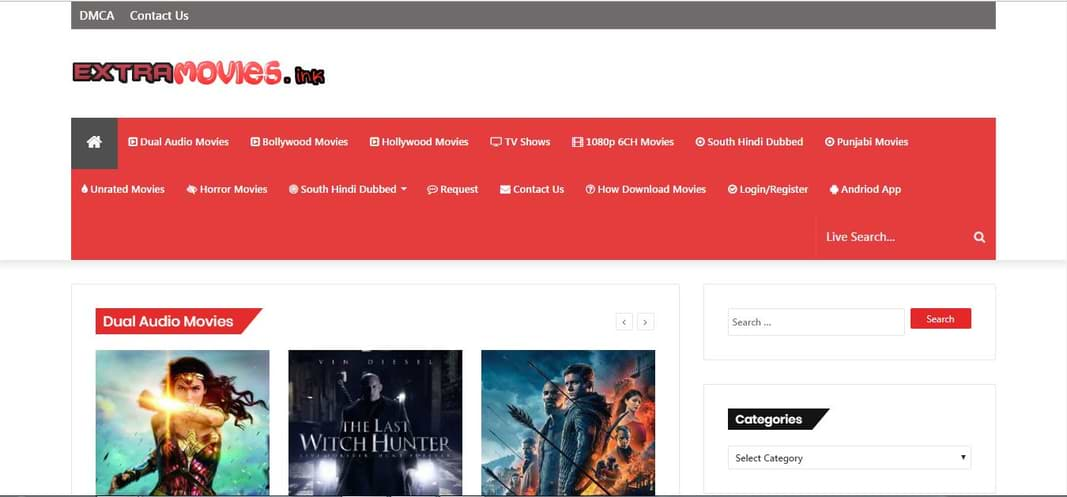 ExtraMovies Download Hollywood Movies