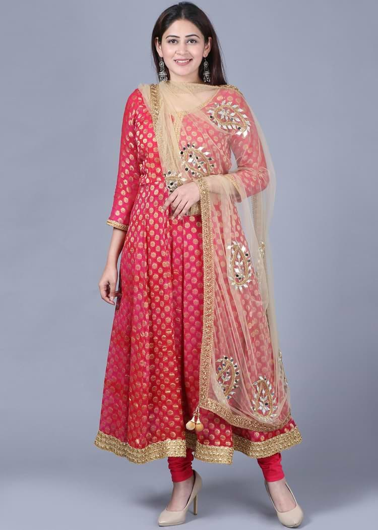 Banarasi silk suit
