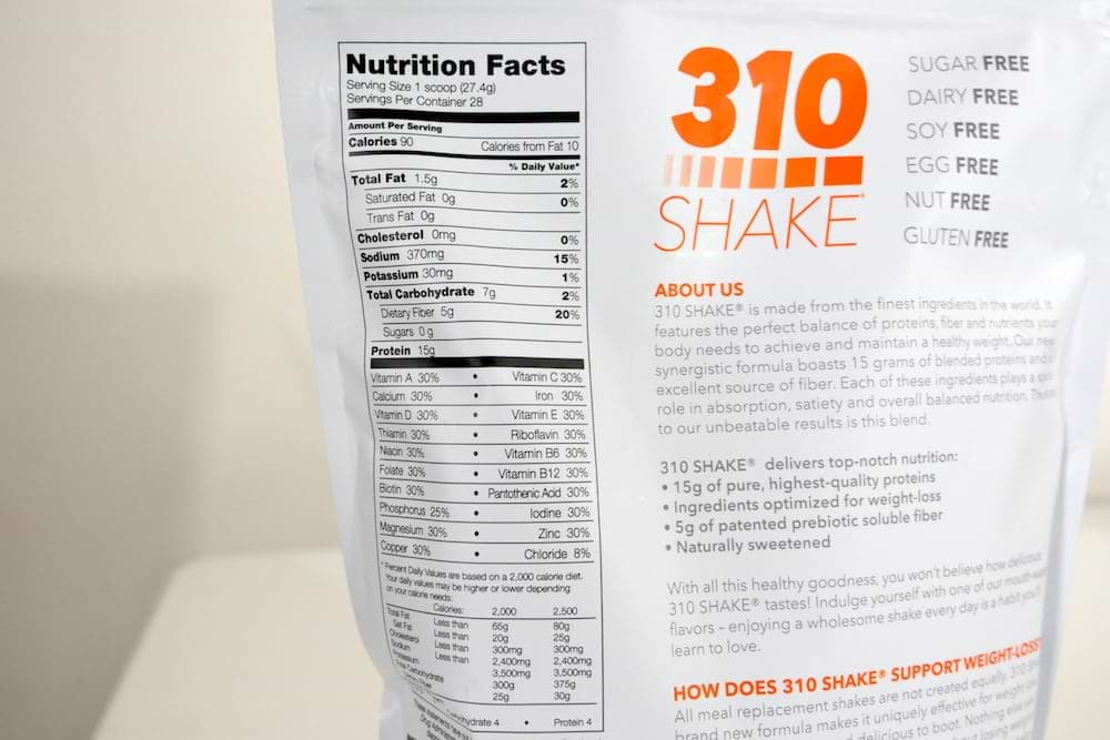 310 meal replacement shake reviews