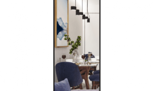 Contemporary Yet Minimalist Look With a Full-Length Mirror